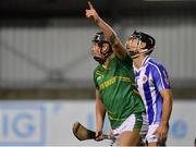 6 November 2018; Luke Loughlin of Clonkill celebrates after scoring his side's first goal during the AIB Leinster GAA Hurling Senior Club Championship quarter-final match between Ballyboden St Endas and Clonkill at Parnell Park, in Dublin. Photo by Brendan Moran/Sportsfile