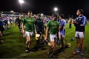 6 November 2018; Clonkill players and officials are applauded from the pitch by the Ballyboden St Enda's team after the AIB Leinster GAA Hurling Senior Club Championship quarter-final match between Ballyboden St Endas and Clonkill at Parnell Park, in Dublin. Photo by Brendan Moran/Sportsfile
