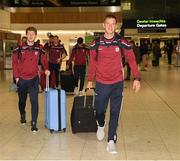 7 November 2018; James Shehill and John Hanbury, left, of Galway as the Galway players depart for the Wild Geese Cup in Sydney, Auatralia, Terminal 1, Dublin Airport, Dublin. Photo by Ray McManus/Sportsfile
