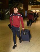 7 November 2018; Jack Coyle of Galway as the Galway players depart for the Wild Geese Cup in Sydney, Auatralia, Terminal 1, Dublin Airport, Dublin. Photo by Ray McManus/Sportsfile
