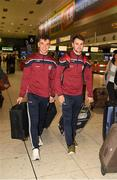 7 November 2018; Shane Moloney, left, and Johnny Coen of Galway as the Galway players depart for the Wild Geese Cup in Sydney, Auatralia, Terminal 1, Dublin Airport, Dublin. Photo by Ray McManus/Sportsfile