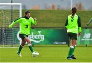7 November 2018; Niamh Fahey and Katie McCabe during Republic of Ireland WNT squad training at FAI National Training Centre, Abbotstown, in Dublin. Photo by Matt Browne/Sportsfile