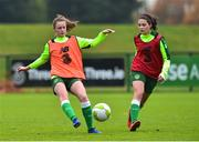 7 November 2018; Heather Payne and Amy Boyle-Carr during Republic of Ireland WNT squad training at FAI National Training Centre, Abbotstown, in Dublin. Photo by Matt Browne/Sportsfile