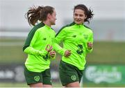 7 November 2018; Amy Boyle-Carr with Heather Payne during Republic of Ireland WNT squad training at FAI National Training Centre, Abbotstown, in Dublin. Photo by Matt Browne/Sportsfile