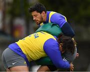 8 November 2018; Javier Ortega Desio is tackled by Pablo Matera during Argentina Rugby Squad Training at Wanderers Rugby Club in Dublin. Photo by Brendan Moran/Sportsfile