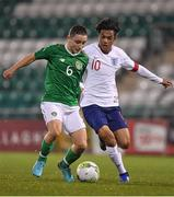 8 November 2018; Joe Hodge of Republic of Ireland in action against Fabio Carvalho of England during the U17 International Friendly match between Republic of Ireland and England at Tallaght Stadium in Tallaght, Dublin. Photo by Brendan Moran/Sportsfile