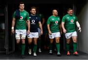 9 November 2018; Ireland players, from left, James Ryan, Finlay Bealham, Rory Best and Tadhg Furlong ahead of the Ireland rugby captains run at the Aviva Stadium in Dublin. Photo by Ramsey Cardy/Sportsfile