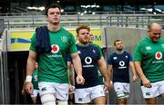 9 November 2018; James Ryan and his Ireland teammates ahead of the Ireland rugby captains run at the Aviva Stadium in Dublin. Photo by Ramsey Cardy/Sportsfile