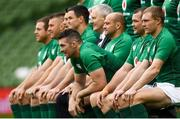 9 November 2018; Peter O'Mahony and his Ireland teammates during the Ireland rugby captains run at the Aviva Stadium in Dublin. Photo by Ramsey Cardy/Sportsfile