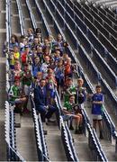 9 November 2018; Alan Black, from Allianz, alongside the winning captains from the recent Allianz Cumann na mBunscol finals at Croke Park in Dublin.  Photo by Piaras Ó Mídheach/Sportsfile