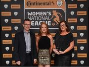 9 November 2018; Shauna Brennan of Galway WFC with her parents Padraig and Mags upon arrival at the Continental Tyres Women's National League Awards at the Ballsbridge Hotel in Dublin. Photo by Piaras Ó Mídheach/Sportsfile