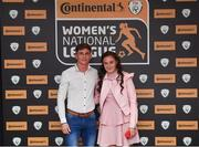 9 November 2018; Jessica Ziu of Shelbourne WFC and Jamie Martin upon arrival at the Continental Tyres Women's National League Awards at the Ballsbridge Hotel in Dublin. Photo by Piaras Ó Mídheach/Sportsfile