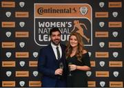 9 November 2018; Nicola Doyle and Scott Gaynor of Wexford Youths upon arrival at the Continental Tyres Women's National League Awards at the Ballsbridge Hotel in Dublin. Photo by Piaras Ó Mídheach/Sportsfile