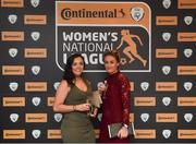 9 November 2018; Noelle Murray and Rachel Graham of Shelbourne WFC upon arrival at the Continental Tyres Women's National League Awards at the Ballsbridge Hotel in Dublin. Photo by Piaras Ó Mídheach/Sportsfile