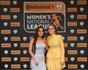 9 November 2018; Isibeal Atkinson and Alannah McEvoy of Shelbourne WFC upon arrival at the Continental Tyres Women's National League Awards at the Ballsbridge Hotel in Dublin. Photo by Piaras Ó Mídheach/Sportsfile