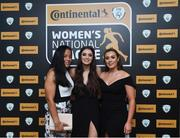 9 November 2018; Wexford Youth players, from left, Rianna Jarrett, Lauren Dwyer and Orlaith Conlon upon arrival at the Continental Tyres Women's National League Awards at the Ballsbridge Hotel in Dublin. Photo by Piaras Ó Mídheach/Sportsfile