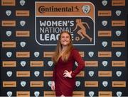9 November 2018; Amber Barrett of Peamount United upon arrival at the Continental Tyres Women's National League Awards at the Ballsbridge Hotel in Dublin. Photo by Piaras Ó Mídheach/Sportsfile