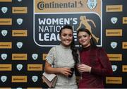9 November 2018; Niamh Farrelly, left and Lauren O'Callaghan of Peamount United upon arrival at the Continental Tyres Women's National League Awards at the Ballsbridge Hotel in Dublin. Photo by Piaras Ó Mídheach/Sportsfile