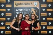 9 November 2018; Attendees, from left, Clíodhna Ní Shé of Wexford Youths, Ciara Delaney of Wexford Youths, and Karley Leavy of Shelbourne at the Continental Tyres Women's National League Awards at the Ballsbridge Hotel in Dublin. Photo by Piaras Ó Mídheach/Sportsfile