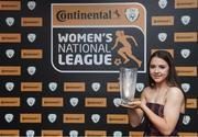 9 November 2018; U17 Player of the Year Emily Whelan of Shelbourne with her award during the Continental Tyres Women's National League Awards at the Ballsbridge Hotel in Dublin. Photo by Piaras Ó Mídheach/Sportsfile
