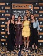 9 November 2018; Shelbourne WFC players, from left, Oleta Griffin, Emily Whelan, Isibeal Atkinson and Rebecca Cooke upon arrival at the Continental Tyres Women's National League Awards at the Ballsbridge Hotel in Dublin. Photo by Piaras Ó Mídheach/Sportsfile