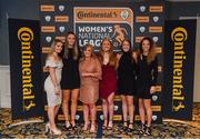 9 November 2018; Peamount United players, from left, Louise Masterson, Chloe Maloney, Emma Donoghue, Amber Barrett, Eleanor Ryan Doyle and Louise Corrigan upon arrival at the Continental Tyres Women's National League Awards at the Ballsbridge Hotel in Dublin. Photo by Piaras Ó Mídheach/Sportsfile