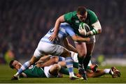 10 November 2018; Tadhg Furlong of Ireland is tackled by Nicholas Sanchez of Argentina during the Guinness Series International match between Ireland and Argentina at the Aviva Stadium in Dublin. Photo by Ramsey Cardy/Sportsfile