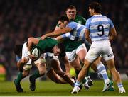 10 November 2018; James Ryan of Ireland is tackled by Santiago Medrano of Argentina during the Guinness Series International match between Ireland and Argentina at the Aviva Stadium in Dublin. Photo by Ramsey Cardy/Sportsfile