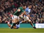 10 November 2018; Cian Healy of Ireland is tackled by Jeronimo de la Fuente of Argentina during the Guinness Series International match between Ireland and Argentina at the Aviva Stadium in Dublin. Photo by Brendan Moran/Sportsfile