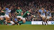 10 November 2018; Cian Healy of Ireland attempts to offload while being tackled by Jeronimo de la Fuente of Argentina during the Guinness Series International match between Ireland and Argentina at the Aviva Stadium in Dublin. Photo by Brendan Moran/Sportsfile