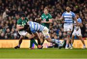 10 November 2018; Sean O'Brien of Ireland is tackled by Guido Petti, left and Santiago Medrano of Argentina during the Guinness Series International match between Ireland and Argentina at the Aviva Stadium in Dublin. Photo by Matt Browne/Sportsfile