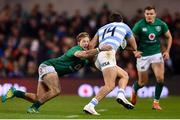 10 November 2018; Bautista Delguy of Argentina is tackled by Kieran Marmion of Ireland during the Guinness Series International match between Ireland and Argentina at the Aviva Stadium in Dublin. Photo by Ramsey Cardy/Sportsfile