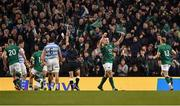 10 November 2018; CJ Stander of Ireland celebrates after teammate Luke McGrath scored their side's third try during the Guinness Series International match between Ireland and Argentina at the Aviva Stadium in Dublin. Photo by Brendan Moran/Sportsfile