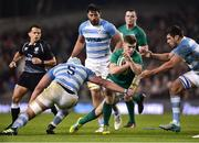 10 November 2018; Luke McGrath of Ireland evades the tackles of Tomas Lavanini, left, and Guido Petti of Argentina during the Guinness Series International match between Ireland and Argentina at the Aviva Stadium in Dublin. Photo by Matt Browne/Sportsfile