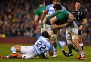 10 November 2018; James Ryan of Ireland is tackled by Joaquin Diaz Bonilla of Argentina during the Guinness Series International match between Ireland and Argentina at the Aviva Stadium in Dublin. Photo by Brendan Moran/Sportsfile