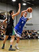 10 November 2018; Conor Quinn of Belfast Star in action against Eoin Quigley of Garvey's Tralee Warriors during the Basketball Ireland Men's Superleague match between Garvey's Tralee Warriors and Belfast Star at Tralee Sports Complex in Tralee, Co Kerry. Photo by Piaras Ó Mídheach/Sportsfile