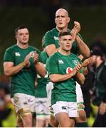 10 November 2018; Ireland's Luke McGrath, front, and Devin Toner following the Guinness Series International match between Ireland and Argentina at the Aviva Stadium in Dublin. Photo by Ramsey Cardy/Sportsfile