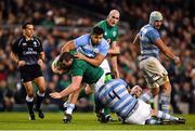 10 November 2018; Jack McGrath of Ireland is tackled by Matias Alemanno of Argentina during the Guinness Series International match between Ireland and Argentina at the Aviva Stadium in Dublin. Photo by Ramsey Cardy/Sportsfile