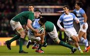 10 November 2018; Jeronimo de la Fuente of Argentina is tackled by James Ryan and Devin Toner of Ireland during the Guinness Series International match between Ireland and Argentina at the Aviva Stadium in Dublin. Photo by Brendan Moran/Sportsfile
