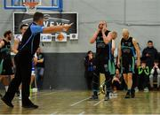 10 November 2018; Kieran Donaghy of Garvey's Tralee Warriors reacts during the Basketball Ireland Men's Superleague match between Garvey's Tralee Warriors and Belfast Star at Tralee Sports Complex in Tralee, Co Kerry. Photo by Piaras Ó Mídheach/Sportsfile
