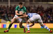 10 November 2018; Jacob Stockdale of Ireland is tackled by Thomas Lezana of Argentina during the Guinness Series International match between Ireland and Argentina at the Aviva Stadium in Dublin. Photo by Matt Browne/Sportsfile