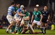 10 November 2018; Peter O'Mahony of Ireland is tackled by Tomas Lavanini and Santiago Medrano of Argentina during the Guinness Series International match between Ireland and Argentina at the Aviva Stadium in Dublin. Photo by Matt Browne/Sportsfile