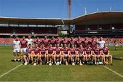 11 November 2018; The Galway squad before the Wild Geese Cup match between Galway and Kilkenny at Spotless Stadium in Sydney, Australia. Photo by Ray McManus/Sportsfile
