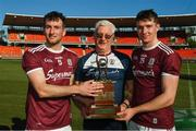 11 November 2018; Tex Callaghan with Padraic Mannion, left, and Cathal Mannion of Galway after the Wild Geese Cup match between Galway and Kilkenny at Spotless Stadium in Sydney, Australia. Photo by Ray McManus/Sportsfile
