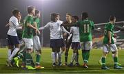 8 November 2018; Players from both sides get involved in a dispute during the U17 International Friendly match between Republic of Ireland and England at Tallaght Stadium in Tallaght, Dublin. Photo by Brendan Moran/Sportsfile
