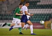 8 November 2018; Nathan Wood-Gordon of England in action against Conor Carty of Republic of Ireland during the U17 International Friendly match between Republic of Ireland and England at Tallaght Stadium in Tallaght, Dublin. Photo by Brendan Moran/Sportsfile