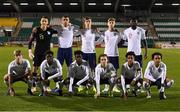 8 November 2018; The England team prior to the U17 International Friendly match between Republic of Ireland and England at Tallaght Stadium in Tallaght, Dublin. Photo by Brendan Moran/Sportsfile