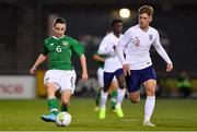 8 November 2018; Joe Hodge of Republic of Ireland in action against Dennis Cirkin of England during the U17 International Friendly match between Republic of Ireland and England at Tallaght Stadium in Tallaght, Dublin. Photo by Brendan Moran/Sportsfile