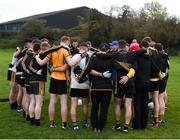 11 November 2018; The St Peter's Dunboyne huddle ahead of the AIB Leinster GAA Football Senior Club Championship Round 1 match between St Peter's Dunboyne and Kilmacud Crokes at Páirc Tailteann in Navan, Co. Meath. Photo by Daire Brennan/Sportsfile