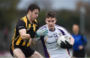 11 November 2018; Dara Mullin of Kilmacud Crokes in action against Liam Byrne of St Peter's Dunboyne during the AIB Leinster GAA Football Senior Club Championship Round 1 match between St Peter's Dunboyne and Kilmacud Crokes at Páirc Tailteann in Navan, Co. Meath. Photo by Daire Brennan/Sportsfile